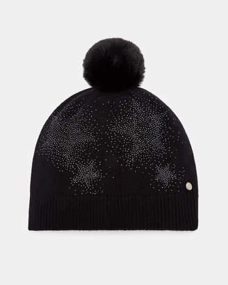 Ted Baker JENISIS Star detail pom pom hat