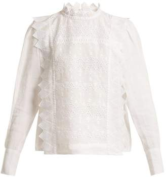Isabel Marant Nutson Embroidered Blouse - Womens - White