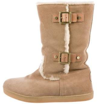 Tory Burch Shearling-Lined Mid-Calf Boots