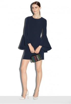 Italian Cady Bell Sleeve Dress $425 thestylecure.com