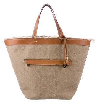 Loro Piana Leather-Trimmed Quilted Canvas Tote