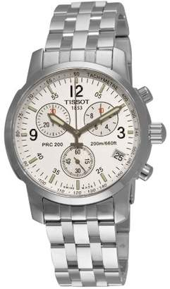 Tissot Men's T17158632 T-Sport PRC200 Chronograph Stainless Steel Dial Watch