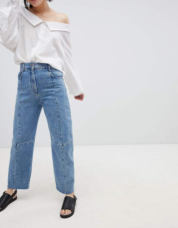 DESIGN Premium Florence Authentic Egineered Straight Leg Jeans In Noella Blue
