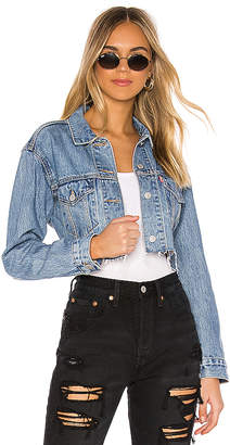 Levi's Cut Off Crop Trucker