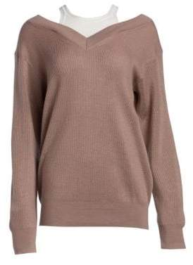 Alexander Wang Double Layer Ribbed Sweater