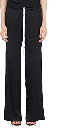 Amiri Women's Striped-Inset Silk Wide-Leg Pants