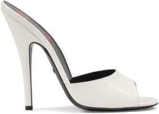 Gucci Leather high-heel slide