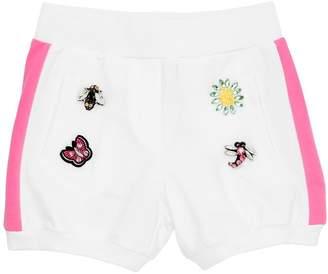 MonnaLisa Cotton Sweat Shorts W/ Patches
