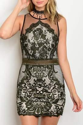 Xtaren Green Crochet Dress