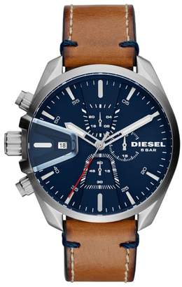 Diesel R) MS9 Chronograph Strap Watch, 47mm