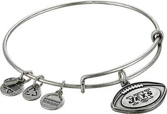 Alex and Ani NFL New York Jets Football Expandable Wire Rafaelian Silver-Tone Bangle Bracelet