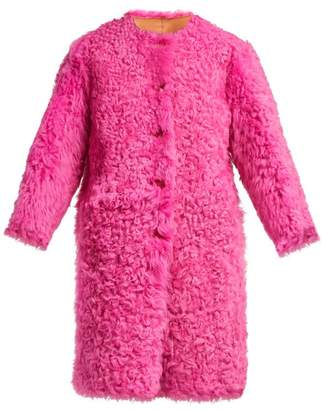 RED Valentino Reversible Shearling Coat - Womens - Pink