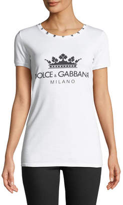 Dolce & Gabbana Milano 31 Crewneck Short-Sleeve Jersey T-Shirt