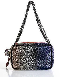 Christian Louboutin Christian Louboutin Crystal Beaded Piloutin Clutch Handbag