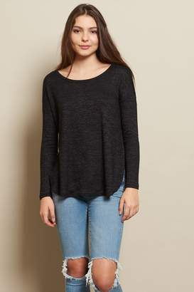 Garage Long Sleeve Brushed Tunic With Slits - FINAL SALE