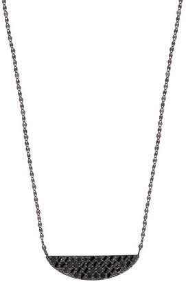 Lana Reckless 14K Black Gold Crescent Necklace with Black Diamonds