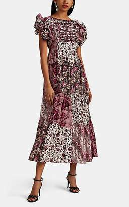 Ulla Johnson Women's Zoya Patchwork Cotton-Silk Maxi Dress - Pink