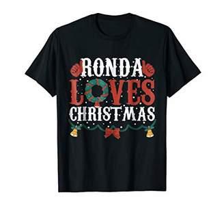 Ronda-Loves Christmas Vinatge T-Shirt Matching Family