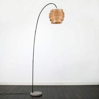 Bose Minisun Du Curva Cement Base Floor Lamp With Step Drum Shade, Black/brown
