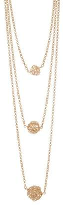 14th & Union Triple Row Knot Necklace
