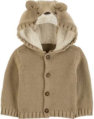 Carter's Baby Boy Bear Hooded Cardigan