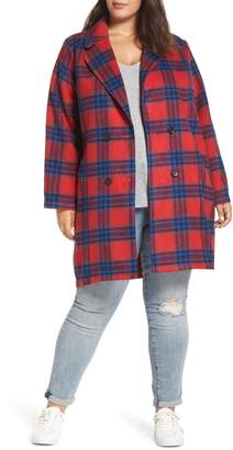 BP Double Breasted Plaid Jacket