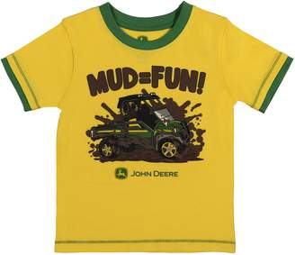"John Deere Baby Boy Mud = Fun"" Graphic Tee"