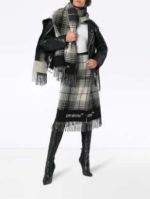 Off-White Off White Check blanket skirt