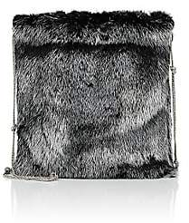 The Row Women's Medicine Fur Large Pouch - Silver