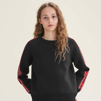 Maje Neoprene sweatshirt with bands