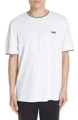Ovadia & Sons Embroidered Leopard Pique T-Shirt
