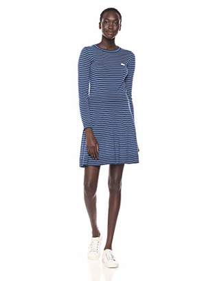 Lacoste Women's Long Sleeve Flared Wool Dress