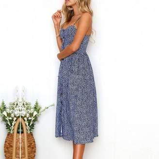 fc17bda23505 ANBOO Summer Beach Dress, Bohemian Womens Sling Sleeveless Long Dress (M, )