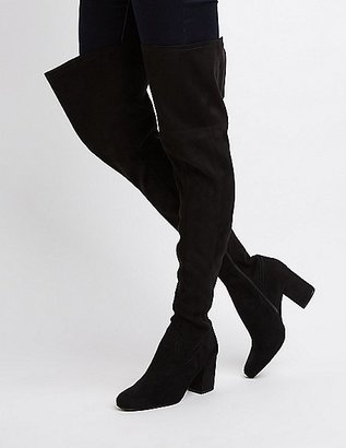 Square Toe Over-The-Knee Boots $44.99 thestylecure.com