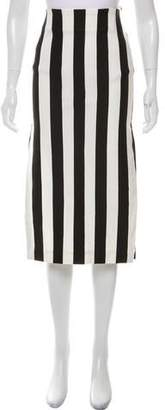 Land of Distraction Striped Midi Skirt