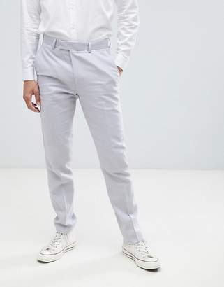 French Connection Wedding Linen Slim Fit Pants