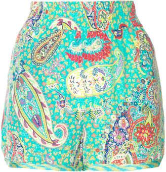 Etro paisley print shorts