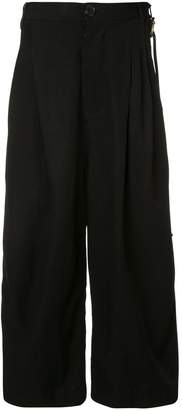 Song For The Mute wide leg cropped trousers