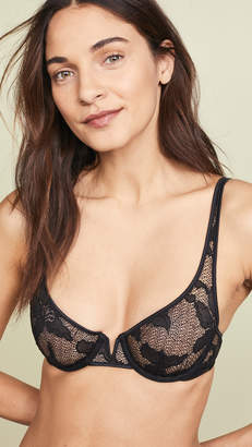 Calvin Klein Underwear CK Black Lily Lace Unlined Balconette Bra
