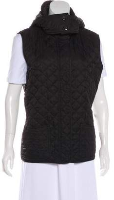 Burberry Quilted Nova Check-Lined Vest