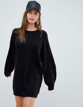 Brave Soul Lulu Sweater Dress with Balloon Sleeves