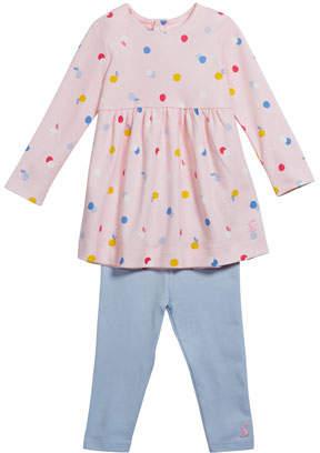 Joules Christina Long-Sleeve Dress w/ Leggings, Size 6-24 Months