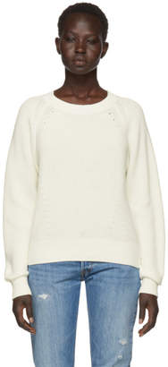 Rag & Bone Off-White Wheeler Crewneck Sweater