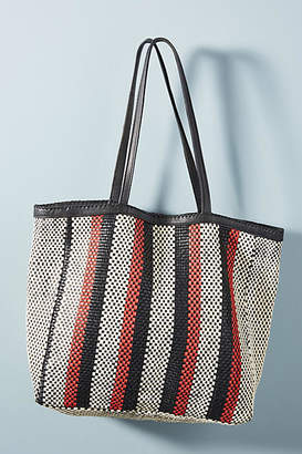 En Shalla Woven Leather Shopper Bag