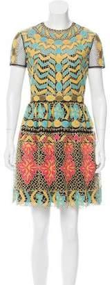Valentino Embroidered Mesh Dress