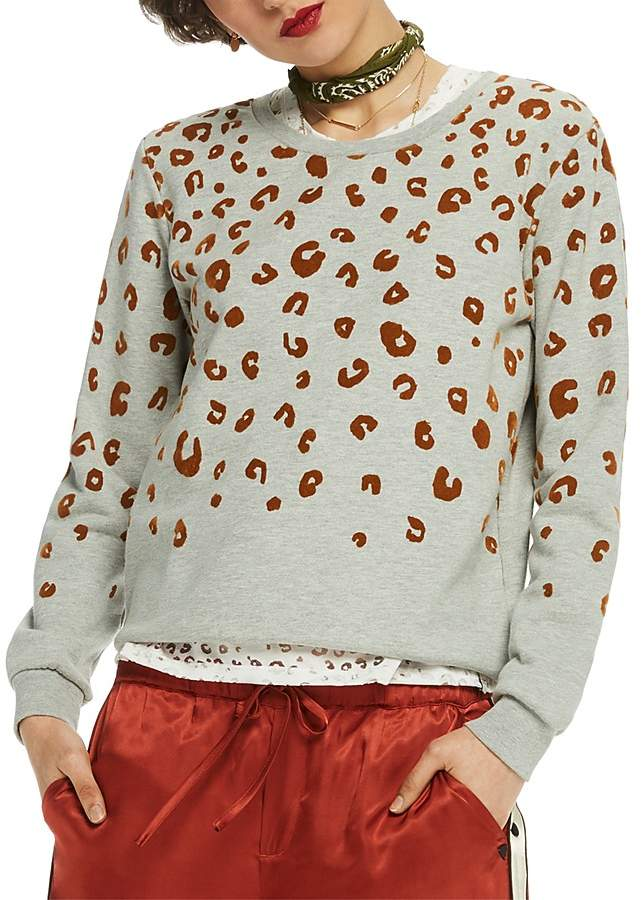Scotch & Soda Metallic Leopard Print Sweatshirt