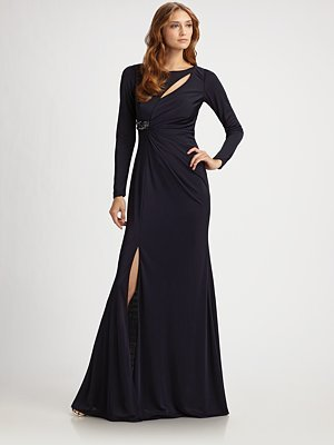 Jersey Cutout Gown