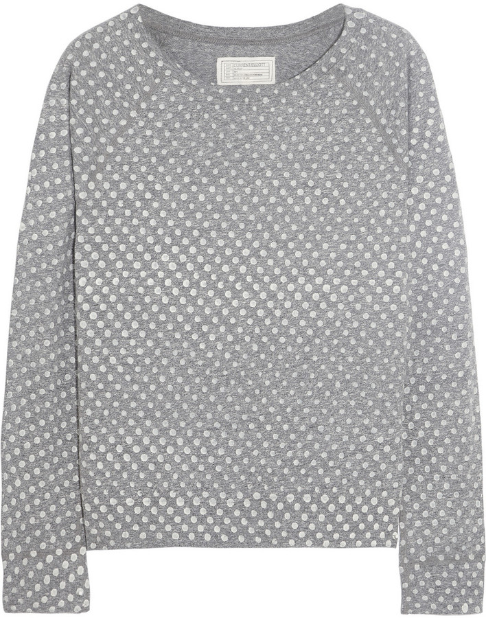 Current/Elliott The Letterman polka-dot jersey top