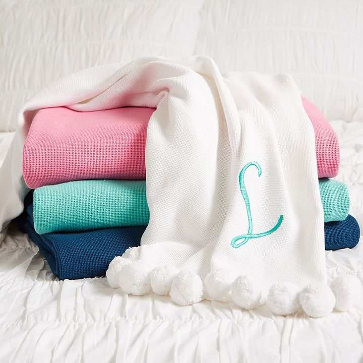 Pom Pom Organic Throw