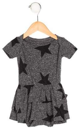 Nununu Girls' Star Print Short Sleeve All-In-One